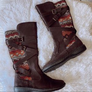 BOC marghera knit boots brown boots 8